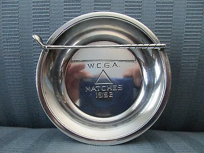 Michael C. FINA NY WCGA Matches 1952 GOLF Club TROPHY Dish STERLING SILVER .925