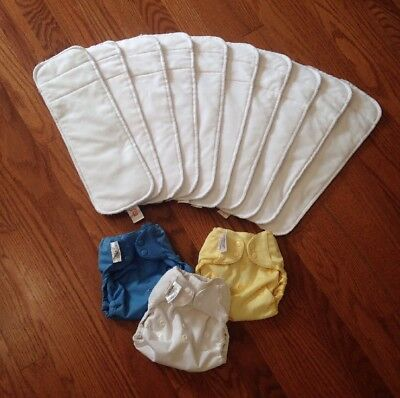 Flip Cover Lot Stay Dry Inserts EUC BumGenius Cloth Diaper Snap Hybrid System
