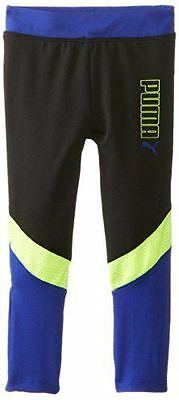NWT PUMA Little Girls' Colorblock Leggings Track Pants Exercise Fitness Size 2t