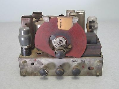 """Vintage 1930""""s Philco Tube Radio Chassis, Unknown Model, Untested"""