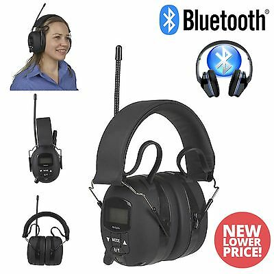 Bluetooth ear defenders, Digital FM Radio and AUX IN Brand New 2 Year Warranty.