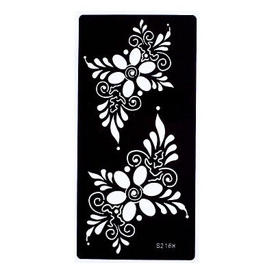 Flowers Festival Temporary Tattoo Henna Arm Hand Stencils Reusable Template