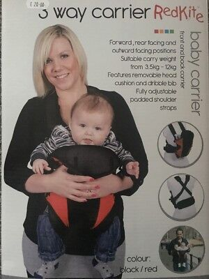 Baby Carrier. Red kite. *new*