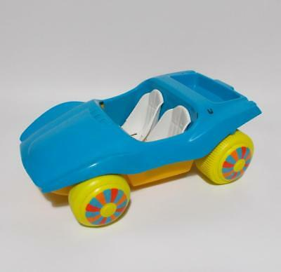 Vintage Barbie Dune Buggy Blue Yellow Wheels Mexico 1972 Hard To Find Flaws