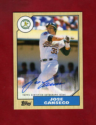 2017 Topps SERIES 1 Jose Canseco ( A'S ) 1987 STYLE AUTOGRAPH AUTO Card!