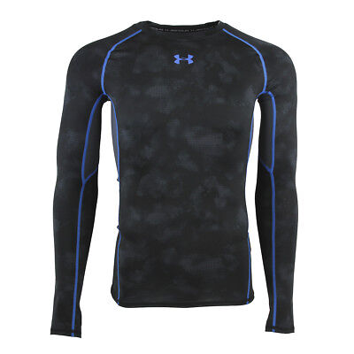 Under Armour Men's HeatGear Armour Printed Compression L/S Shirt Black L