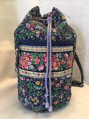 Vera Bradley Blue Floral Print Backpack Bag VNUC!