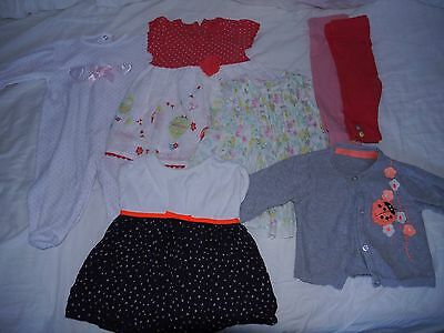 Baby Girl 3-6 month clothes bundle 7 Items