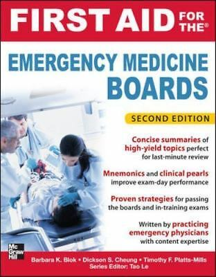 First Aid for the Emergency Medicine Boards 2/E  LikeNew
