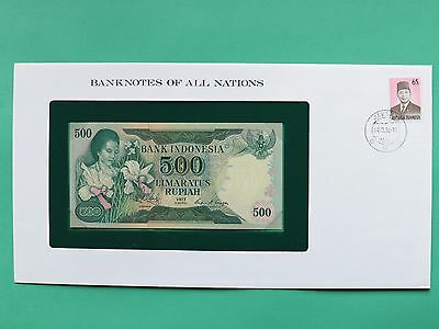 1977 Indonesia 500 Rupee Uncirculated Franklin Mint Banknote Cover SNo46151