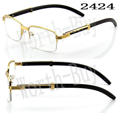New Mens Clear Lens Glasses 80s Fashion Vintage Retro Designer Rx Gold Classic