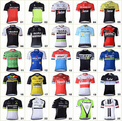 2017 Bicycle Team Mens Road Bike Clothing Jerseys Short Sleeve Tops Riding Shirt