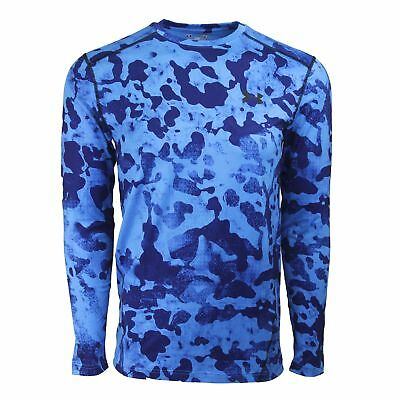 Under Armour Men's UA ColdGear Evo Fitted L/S Tee Brilliant Blue Camo/Black  M