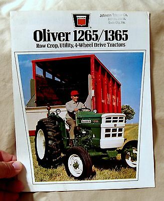 Vintage Oliver Corporation 1265/1365 Tractors Advertising Brochure -Ca 1960's!