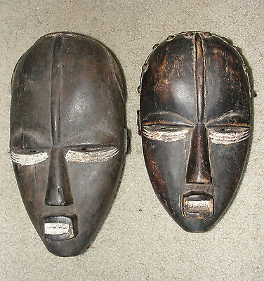 Old Antique African Baule Dan Mask Africa Liberia / Ivory Coast Tribal Masque