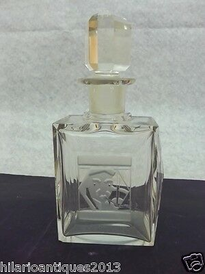 Nice Art Deco Art Glass Scent Perfume Bottle Cubist Cut Crystal Moser