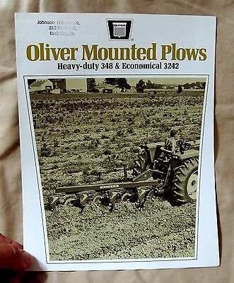 Vintage Oliver Corporation Mounted Plows Advertising Brochure -Ca 1969!