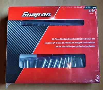 "BRAND NEW Snap on Tools 24 PIECE 1/4"" DRIVE SHALLOW & DEEP SOCKET SETS 124STTMM"