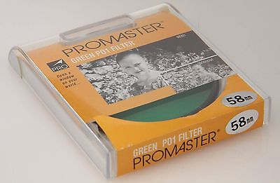 Promaster Green P01 Filter 58mm, plastic case, new old stock #26522