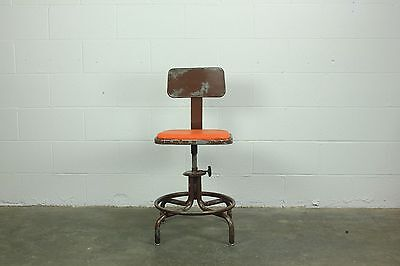Industrial Drafting Stool Chair
