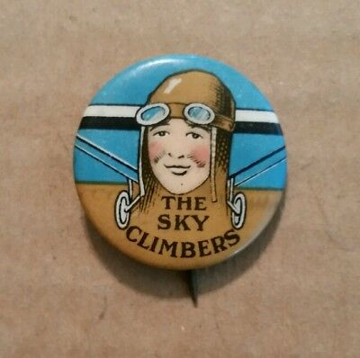 """The Sky Climbers"" Radio Show Premium Pin,1930's"