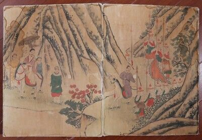 Rare Antique Chinese Hand Painting Figures Women Book Marks KK494