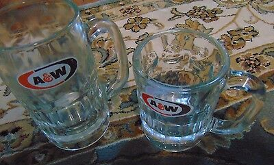 Authentic A&W mugs  Set of 2 medium and large