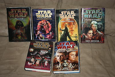 Star Wars Lot of 6 SIGNED Book Matthew Stover Timothy Zahn Troy Denning Salvator