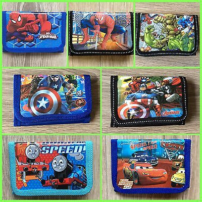 *NEW* Boys Spider-Man / Marvel Super Hereos / Avengers / Thomas / Cars Wallet