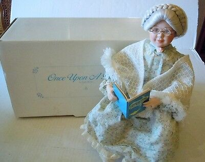 Danbury Mint Once Upon A Time Porcelain Grandma Doll By Judy Belle w/Box