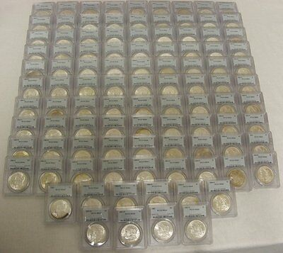 One Hundred (100) PCGS Certified MS64 Morgan Dollars - Pre-1921 FREE shipping