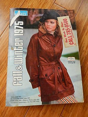 Vintage 1975 Montgomery Ward Fall & Winter Department Store Catalog Book