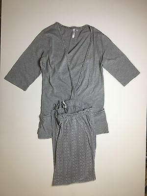 Womens Thyme 2 Piece Gray Maternity PJs (Size Small)