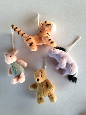 Classic Winnie the Pooh & Friends Mobile Replacement Characters Nursery Qty 4