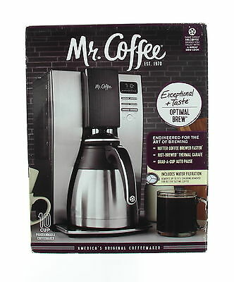 New MR. COFFEE BVMC-PSTX91 Black/Stainless Steel Electric 10 Cups Coffee Maker