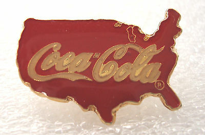 COCA-COLA PIN USA United States of America Lapel Tie Tac 1988 Themes & Symbols