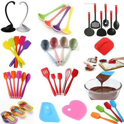 Silicone Kitchen Soup Spoon Cake Cream Spatula Scraper Brush Butter Baking Tool
