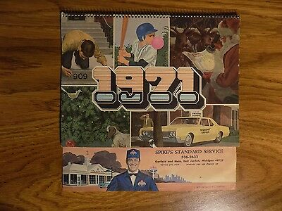 1971 Standard Oil Gas Station Calendar East Jordan MI