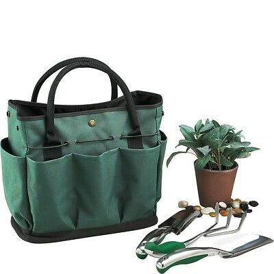 Garden Plant Tool Set Gardening Tools Organizer Tote Kit Lawn Yard Bag Carrier
