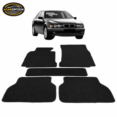 Fits 97-03 BMW E39 5-Series Floor Mats Carpet Front & Rear Nylon Black 5PC