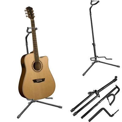 USA Musician Gear Electric Acoustic Bass Guitar Stand Floor Rack Holder Black