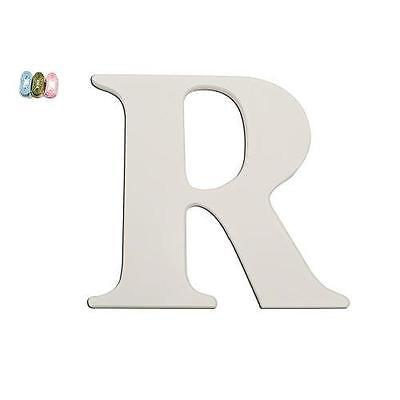 "Babies""R""Us 2344 R White Wooden Personalizable Letter Wall Decor 7.5 Inch BHFO"