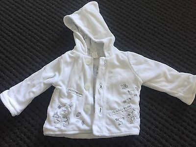 Pumpkin Patch White Jacket And Hat, New Born Size 000
