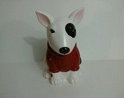 Spuds MacKenzie Likeness Ceramic Vase White with Red Sweater 61817-1 clo