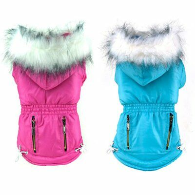 Small Pet Dog Waterproof Coat Puppy Winter Hoodie Jacket Apparel Outwear Clothes
