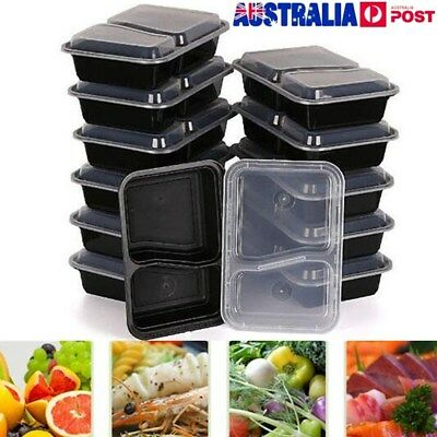 10/20Pcs Meal Prep Containers Food Storage Reusable Microwavable Lunch Box New