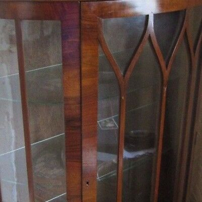 Old Bow Front China Cabinet