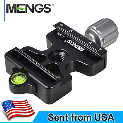 MENGS DC-50 Multifunction Quick Release Clamp For Tripod Head With Arca-Swiss