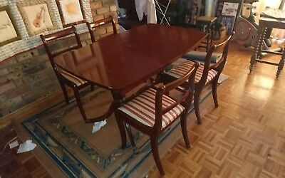 antique extension dining table 4 chairs