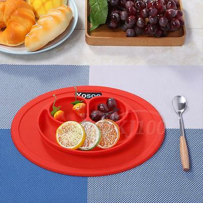 Silicone Mat for Kids Suction Table Food Tray Placemat Plate Bowl Dining Dish UK